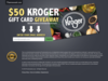 $50 Kroger Gift Card